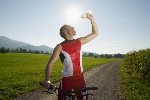 cycling in the heat